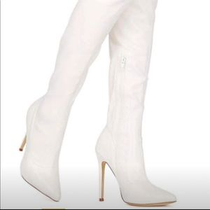 White Over Knee Boot